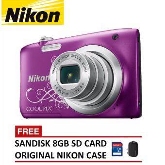 Harga Nikon CoolPix A100 Digital Camera - Decorative Purple (Nikon Malaysia Warranty)