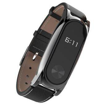 Harga New Mijobs Leather Strap For Xiaomi Mi Band 2 Wrist Straps Screwless Bracelet Smart Band Replace Accessories For Mi Band 2
