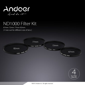 Harga Andoer 82mm ND1000 10 Stop Fader Neutral Density Filter for Nikon Canon DSLR Camera