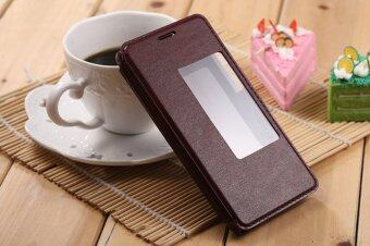 Harga Moonmini PU Leather Flip Cover for Huawei Honor 6 (Brown)