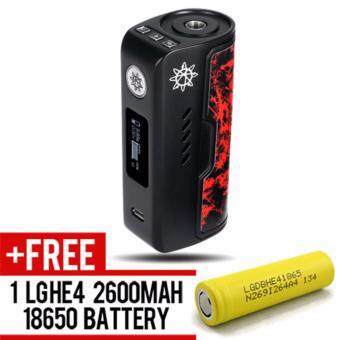 Harga Super Fast Marketing - Dovpo Rogue 100w (Black red ) Mod For Vape And Electronic Cigarettes + 1 LGHE4 YELLOW BATTERY