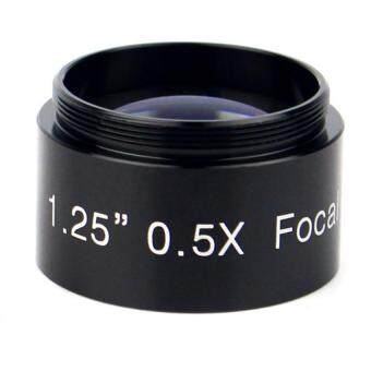 "Harga New Multi-Coated 1.25"" 0.5x Focal Reducer for Telescope Eyepiece Photography and Observing Black"