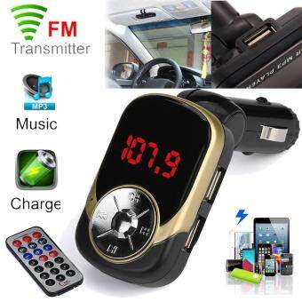 Harga coconie LCD Car MP3 MP4 Player Wireless FM Transmitter Modulator SD/ MMC Card w/ Remote