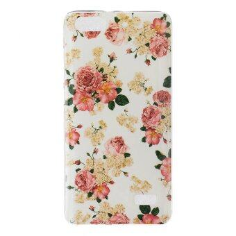 Harga IMD Soft TPU Skin Case for Huawei Honor 4C - Blooming Flowers