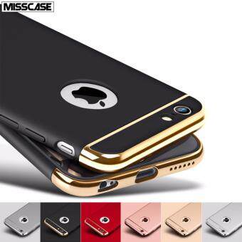Harga MISSCASE PC Hard Ultra-thin Shockproof 3-in-one case cover for Apple iphone 5/5s/SE with Gold plating