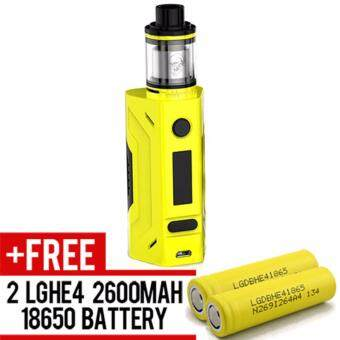 Harga Super Fast Marketing - Smoant Battlestar Rta Kit 200w (Yellow) Mod For Vape And Electronic Cigarettes + 2 LGHE4 YELLOW BATTERY