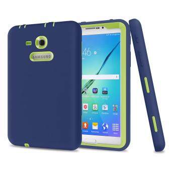 Harga Shockproof Hybrid Color Heavy Duty Case Cover For Samsung Galaxy Tab 3 7.0(T110/T111/T113/T116)-Navy+Green