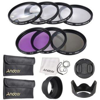 Harga Andoer 55mm UV + CPL + FLD + Close-up(+1+2+4+10) Lens Filter Kit