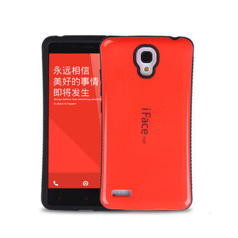 Harga iFace Heavy-Duty Shockproof Hard Case for XiaoMi RedMi Note 4G 5.5' inch (Red)