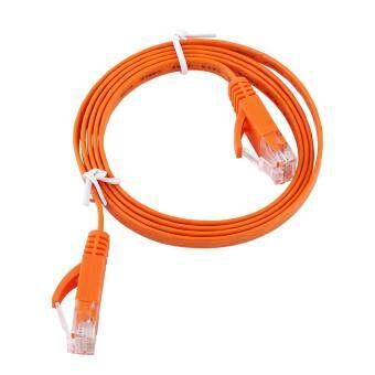 Harga RJ45 CAT6 Ethernet Network Flat LAN Cable UTP Patch Router Cables 1000M (Orange 1meter)