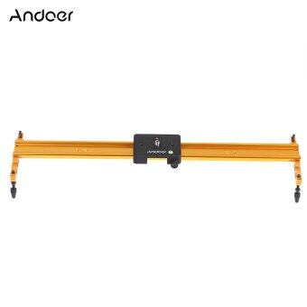 Harga Andoer 60cm Video Track Slider Dolly Track Rail Stabilizer Aluminum Alloy for Canon Nikon Sony Cameras