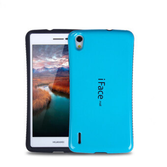 Harga iFace Heavy-Duty Shockproof Hard Case for Huawei Ascend P7 (Light Blue)
