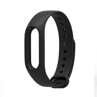 Harga Original Mijobs Replace Strap for Xiaomi Mi Band 2 Version MiBand 2 Silicone Wristbands for Mi Band 2 Smart Bracelet for Xiao Mi Band 2 – Black