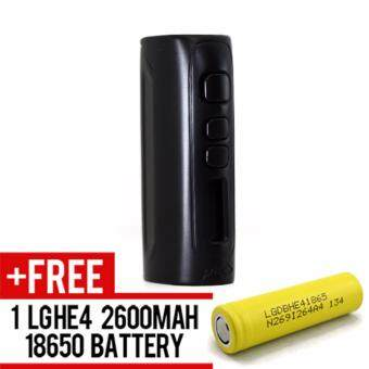 Harga Super Fast Marketing - Ipv D4 (BLACK) Mod For Vape And Electronic Cigarettes +1 LGHE4 YELLOW BATTERY