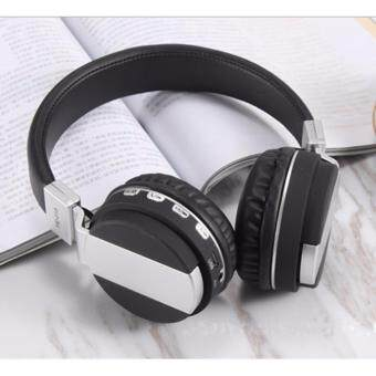 Harga Head wearing Bluetooth card with FM folding earphone wireless mobile phone computer universal