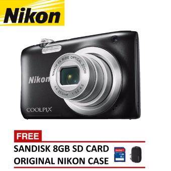 Harga Nikon CoolPix A100 Digital Camera - Black (Nikon Malaysia Warranty)