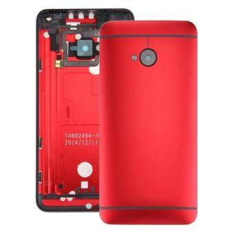 Harga IPartsBuy For HTC One M7 / 801e Back Housing Cover(Red)