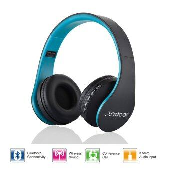 Harga Andoer LH-811 Digital Wireless Bluetooth Headphone(Blue)