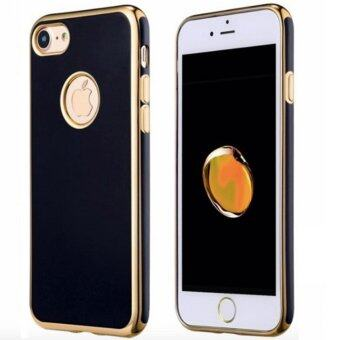 Harga Luxury Jet Black Ultra Thin Soft Gel TPU Case For iPhone 6 Plus/ 6S Plus(Gold)