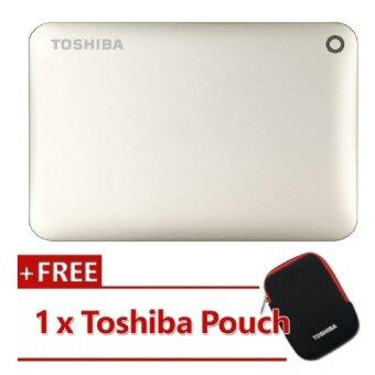 Harga Toshiba Canvio Connect II V8 3TB External HDD Satin Gold (HDTC830AC3C1)
