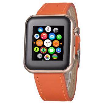 Harga iWatch AW08 Smart Watch Rose Gold with Orange Band