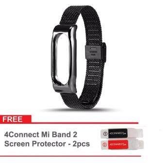 Harga Original Mijobs Metal Strap Band For MiBand 2 Wristbands Stainless Steel Bracelet For Xiaomi Mi Band 2 Replace For Mi Band 2