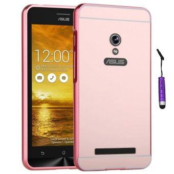 Harga Moonmini Metal Frame Bumper Case for Asus Zenfone 5 (Rose Gold)