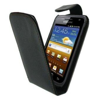 Harga Moonmini Leather Flip Pouch Cover for Samsung Galaxy W I8150 (Black)