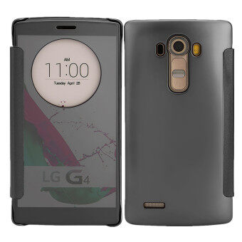 Harga TKOOFN Mirror Pure Color Shockproof Case Cover Folio For LG G4(Black)