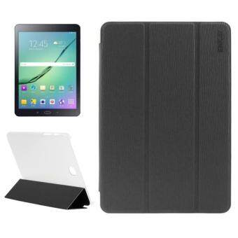 Harga ENKAY Toothpick Texture PU Leather + Translucent Frosted Plastic Case with 3-folding Holder for Samsung Galaxy Tab S2 8.0 / T715(Black)