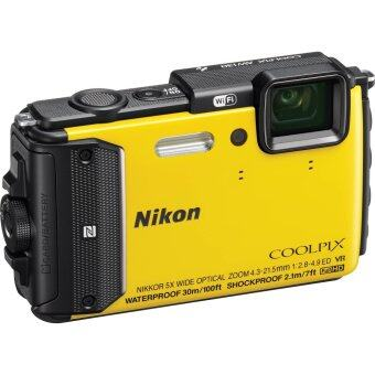 Harga Nikon Coolpix AW130 Waterproof Digital Camera colour : yellow (Nikon Malaysia Warranty) + 8GB + Case