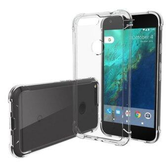 Harga Google Pixel Case, Premium Shock Absorption TPU Bumper Cushion and Scratch Resistant Clear Protective Cases Soft Cover for Google Pixel Phone