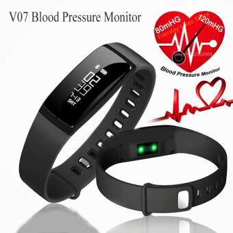 Harga V07 Blood Pressure Smart Wristband Pedometer Smart Bracelet Heart Rate Monitor Smartband Bluetooth Fitness For Android IOS Phone