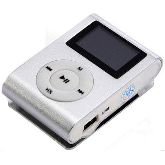 Harga LoveSport USB Mini Clip MP3 Player LCD Screen Support 32GB Micro SD TF Card FM Radio (White)