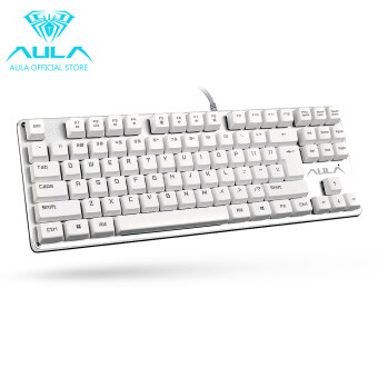 Harga AULA OFFICIAL F2012 Mechanical Gaming Keyboard USB Wired Keyboard(White)