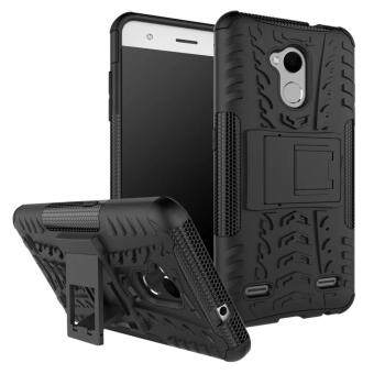Harga Hard Plastic + TPU Combo Armor Bracket Protective Cover Case For ZTE Blade V6 Plus / V7 Lite (Black)