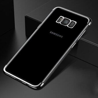 Harga For Samsung Galaxy S8 Plus Clear Soft Tpu Phone Case Luxury Ultra Thin Plating Crystal Transparent Shockproof Phone Cover Silicone Case for Samsung GalaxyS8 PLUS /Samsug S 8PLUS /SAMSUNGS8PLUS/samsung galaxy s8 plus/samsungs8plus/Samsung galaxy S8+
