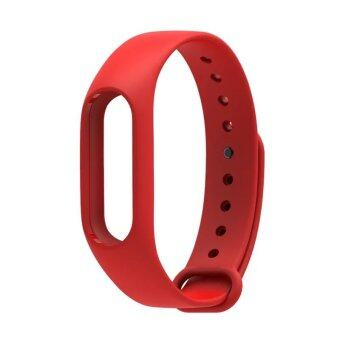 Harga Original Mijobs Replace Strap for Xiaomi Mi Band 2 Version MiBand 2 Silicone Wristbands for Mi Band 2 Smart Bracelet for Xiao Mi Band 2 – Red