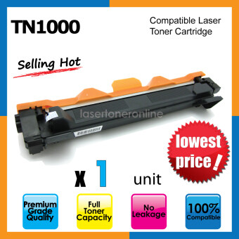 Harga Compatible Laser Toner Cartridge TN1000 / TN-1000 / DCP-1510 / DCP1511 / DCP1512 / DCP1518 / DCP-1610w HL-1110 / HL-1111 / HL-1112 / HL-1118 / HL-1208 / HL-1210w / HL-1218 MFC-1810 / MFC-1811 / MFC-1813 / MFC-1815 / MFC-1818 / MFC-1910w