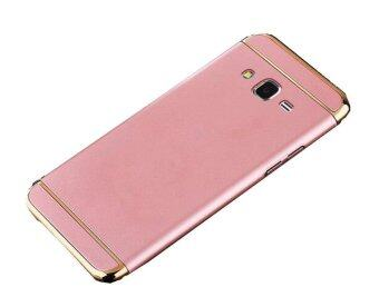 Harga 3 In 1 Ultra Thin and Slim Hard Case Coated Non Slip Matte Surface with Electroplate Frame for Samsung Galaxy J7 2015 (Rose Gold)