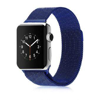 Harga Stainless Steel Milanese Magnetic Loop Strap Watch Bands For Apple Watch iWatch 42mm
