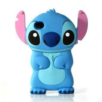 Harga 3D Stitch Movable Ear Flip Hard Back Case Cover Skin for Apple iPhone 4S 4G Blue