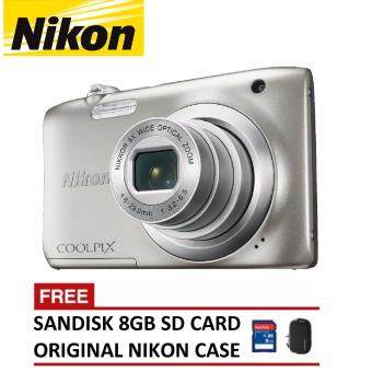 Harga Nikon CoolPix W100 Digital Camera - White (Nikon Malaysia Warranty)