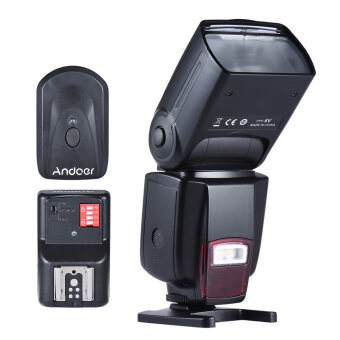 Harga Andoer AD-560Ⅱ Universal Flash Speedlite On-camera Flash GN50 w/ Adjustable LED Fill Light + Andoer Universal 16 Channels Radio Wireless Remote Speedlite Flash Trigger