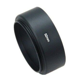 Harga 52mm Metal Lens Hood for Standard Lens Screw-in Mount Short focal