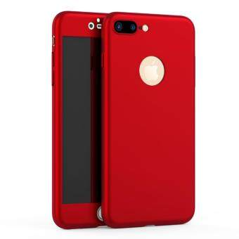Harga MISSCASE 360 Degree Full Body Protect Hard Case Cover for iPhone 5/5S/SE with Tempered Glass film