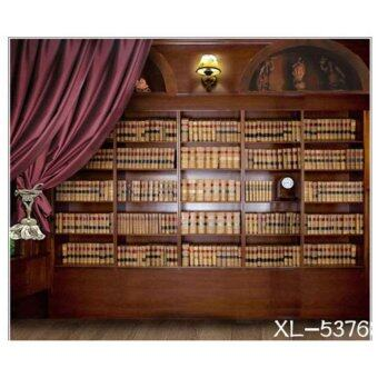 Harga Photography Backdrop Background Studio HY-2146 Library, Book, Staircase & Family Photo (2.5M X 3M)