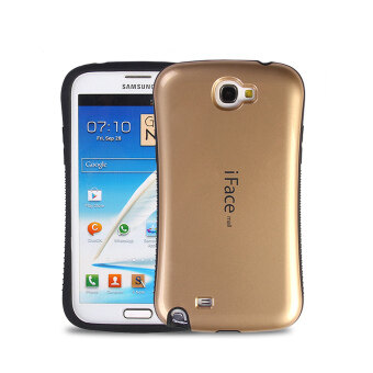 Harga iFace Heavy-Duty Shockproof Hard Case for Samsung Galaxy Note 2 (Gold)