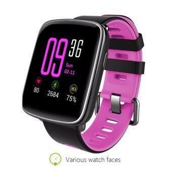 Harga Makibes GV68 Waterproof IP68 Sports Bluetooth Smart Watch MTK2502 Message Call Reminder Remote Camera For IOS/Android - pink