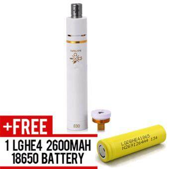 Harga Super Fast Marketing - Vapelyfe Mechanical Mod (white) Mod For Vape And Electronic Cigarettes +1 LGHE4 YELLOW BATTERY